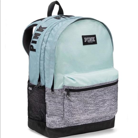 4e9425d145 Victoria Secret VS Pink Backpack Bag mint   green